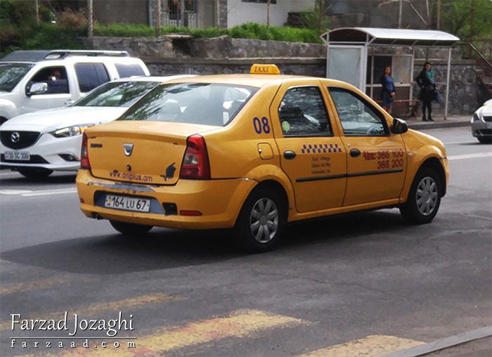 داچیا لوگان تاکسی در ارمنستان
