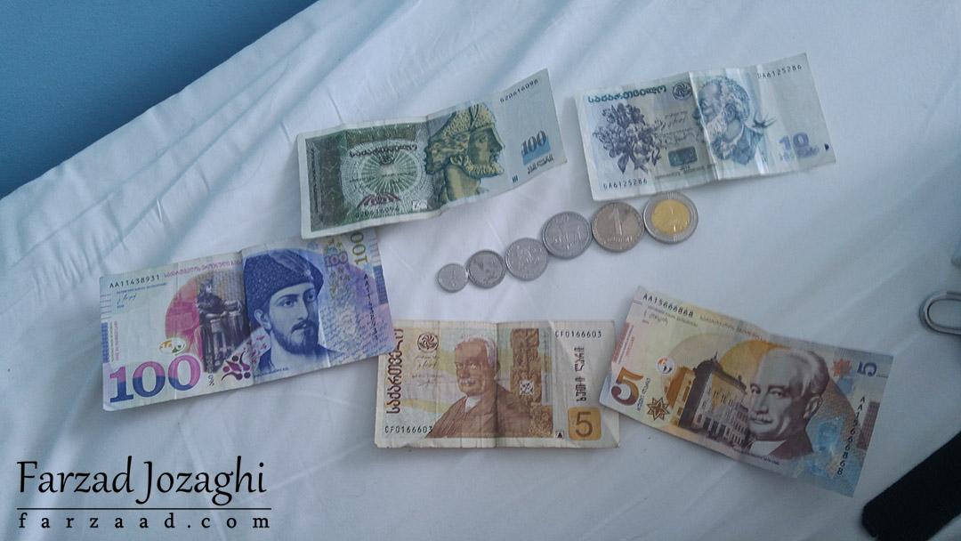 پول گرجستان، سکه و اسکناس لاری و تتری