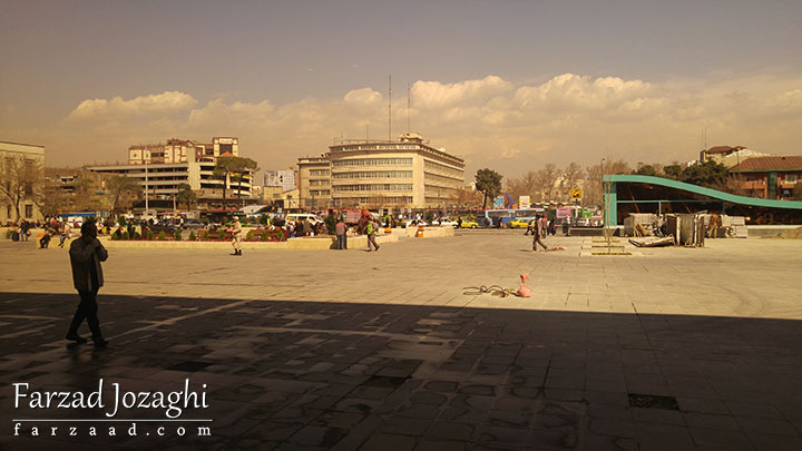 ایستگاه راه آهن تهران و هوای آلوده