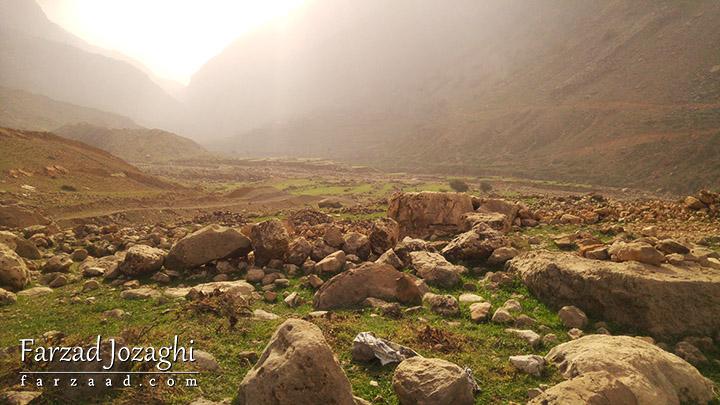 طبیعت سبز و غبار آلود روستای شوی