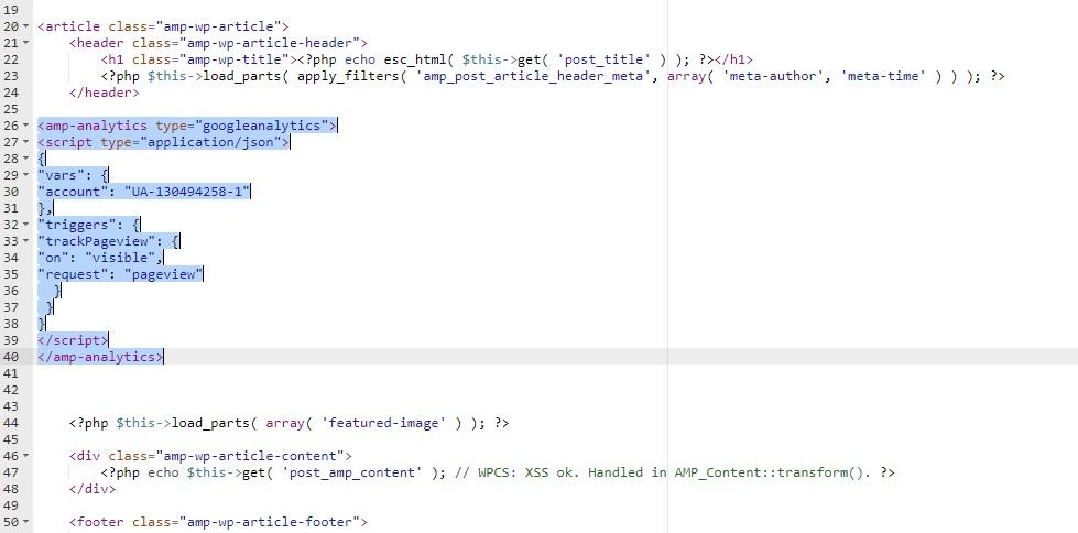 قرار دادن کد آنالیتیکس در صفحه amp