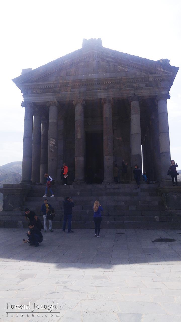 معبد گارنی در نزدیکی ایروان ارمنستان