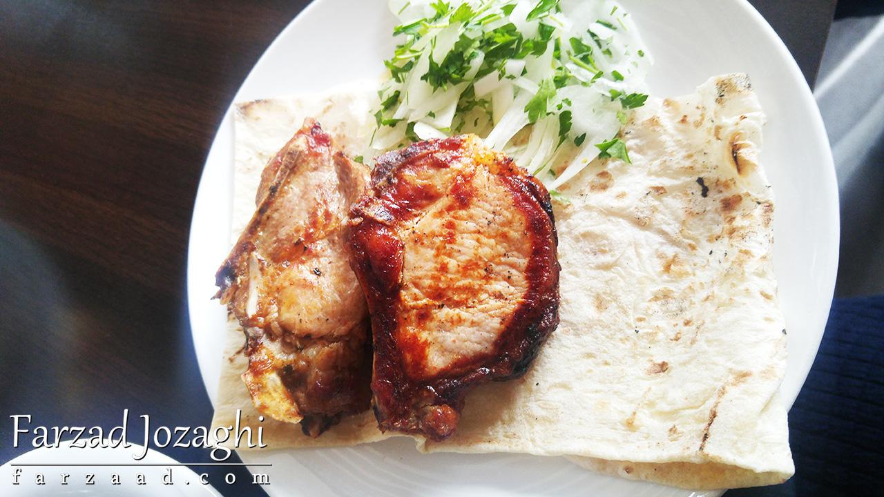 کباب خوشمزه در رستوران ارمنی