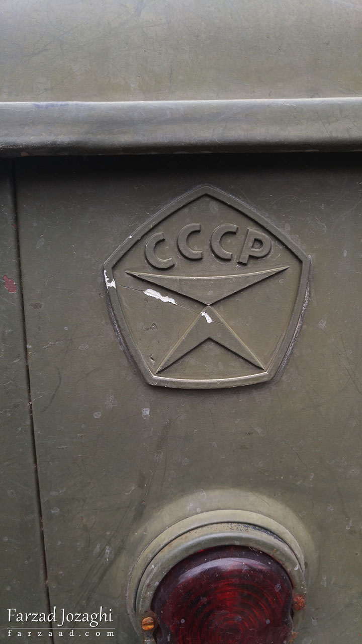 CCCP یا اتحاد جماهیر شوروی پشت کامیون قدیمی - ارمنستان