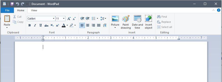 اپلیکیشن WordPad مایکروسافت