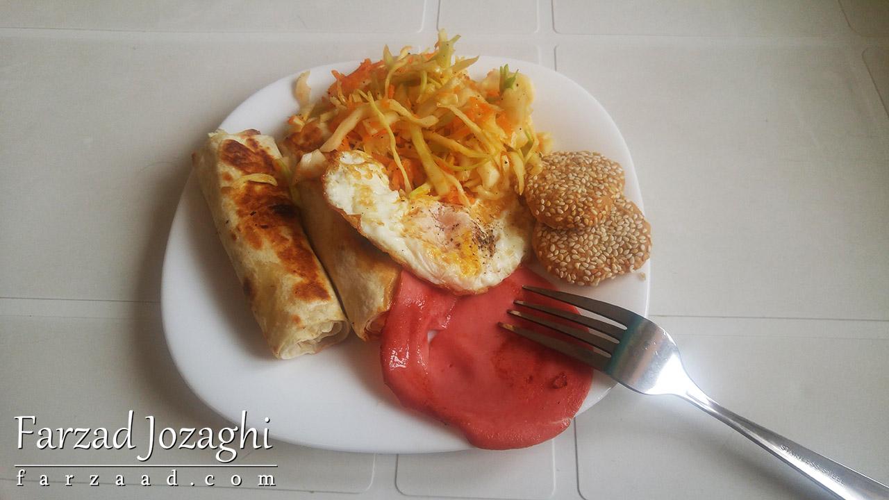 صبحانه روز دوم ایروان - ارمنستان