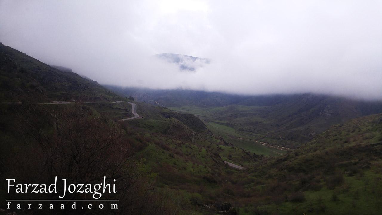 منطقه تاتو ارمنستان از بالای کوه