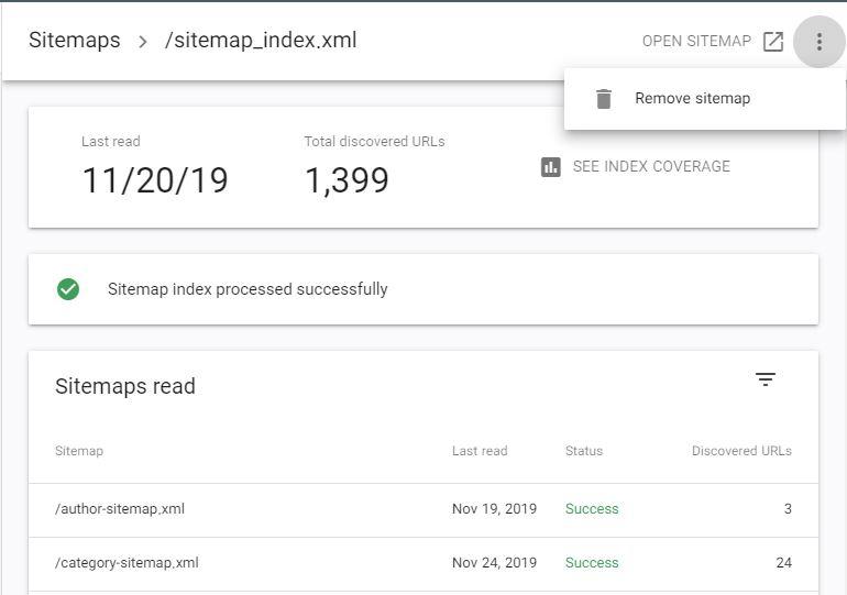 صفحه Sitemaps در سرچ کنسول گوگل